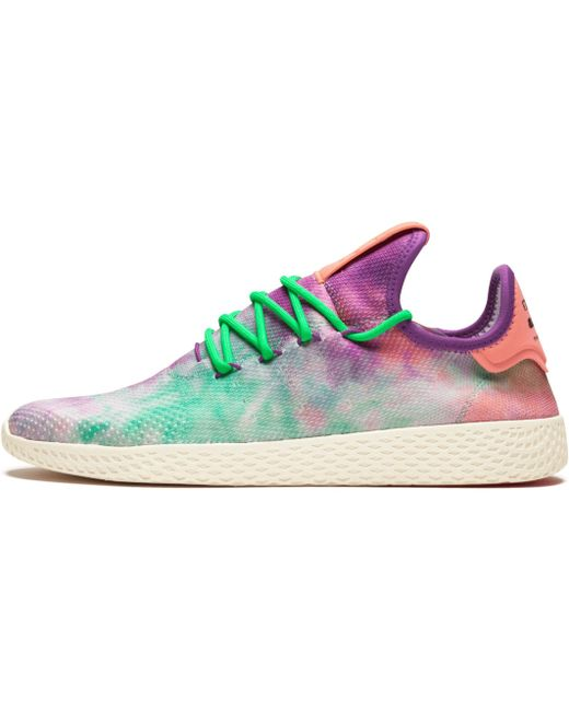 adidas Men's White Hu Holi Tennis Hu Bc Knit Sneakers