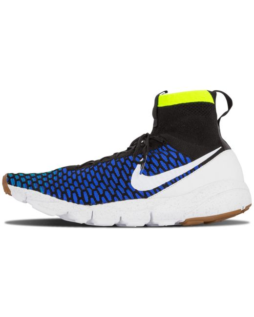 Nike Men's Blue Air Footscape Utility Mid Top Sneakers