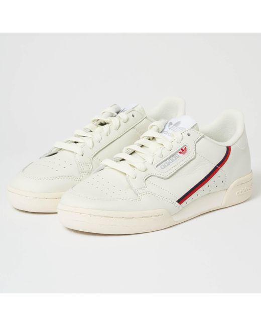 adidas Originals Men's Continental 80 - Off White & Scarlet