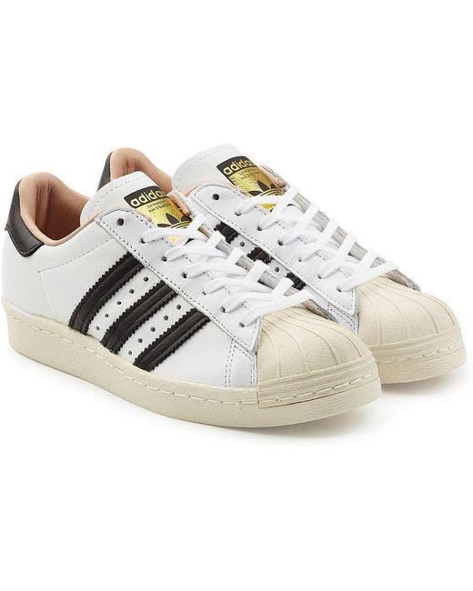 adidas Originals Men's Superstar 80s Leather Sneakers