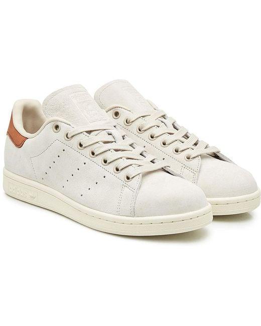 adidas Originals Men's Brown Stan Smith Leather Sneakers