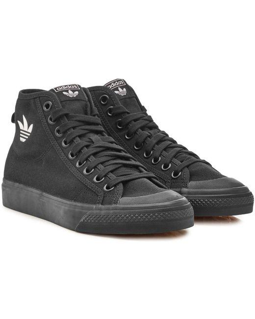 adidas Originals Men's White Nizza High-top Sneakers