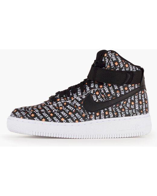 Nike Men's Black Sf Air Force 1 Mid Top Sneakers