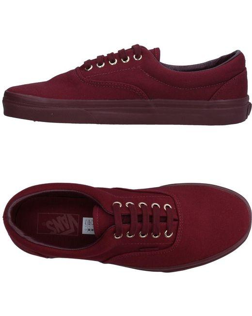 Vans Men's Red Low-tops & Sneakers