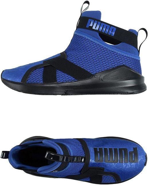 PUMA Men's Blue High-tops & Sneakers