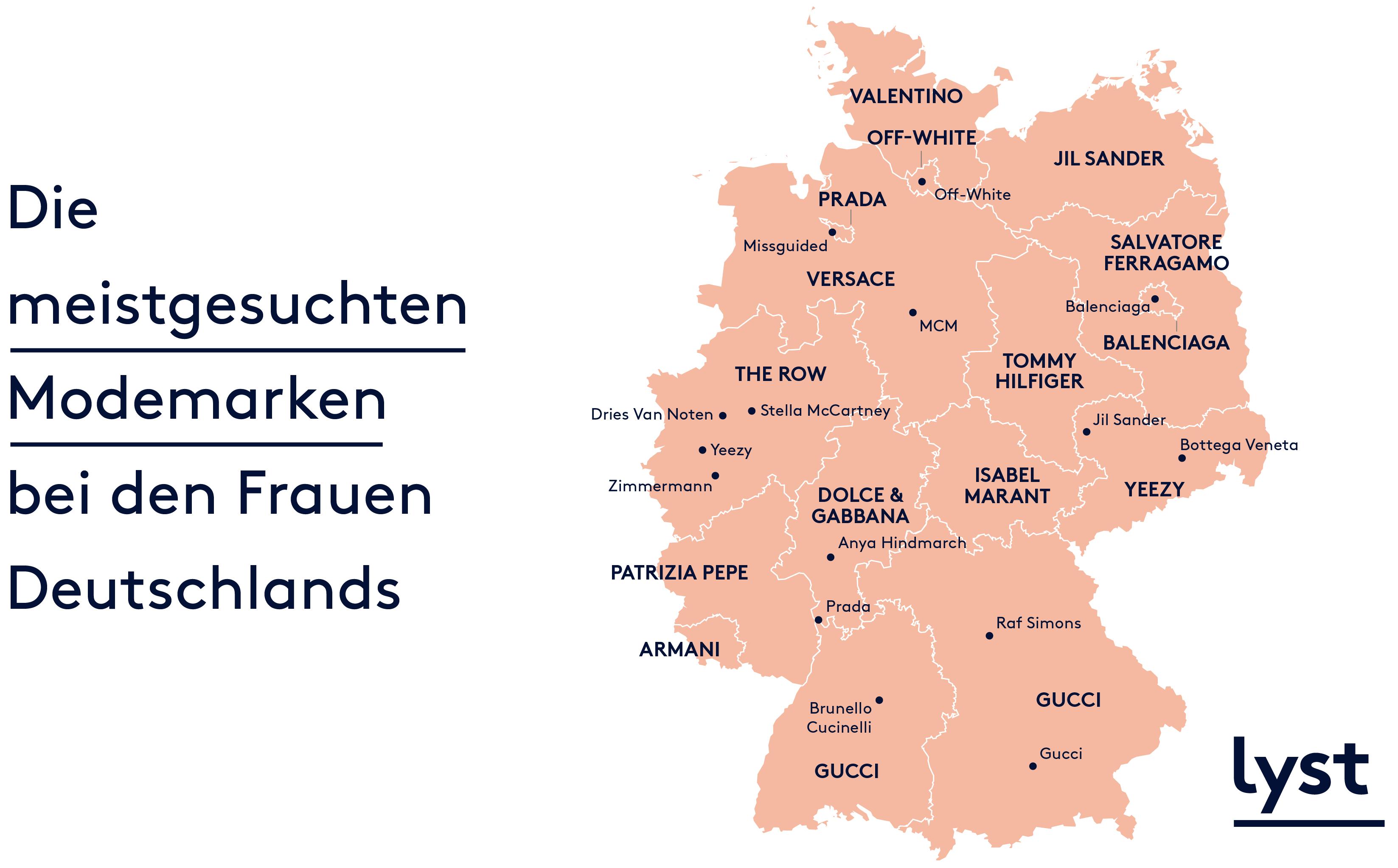 eefbadf2a83 Aber auch weniger bekannte Marken wie Anya Hindmarch, Brunello Cucinelli  oder Gosha Rubchinskiy zählen zu den gefragtesten Labels im  deutschlandweiten ...