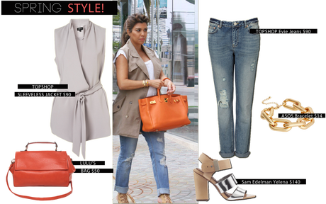 Spring Style: Kourtney Kardashian's Sleeveless Trench