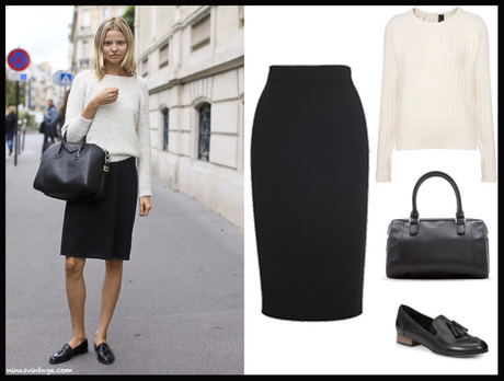 LOOK OF THE DAY: PENCIL SKIRT
