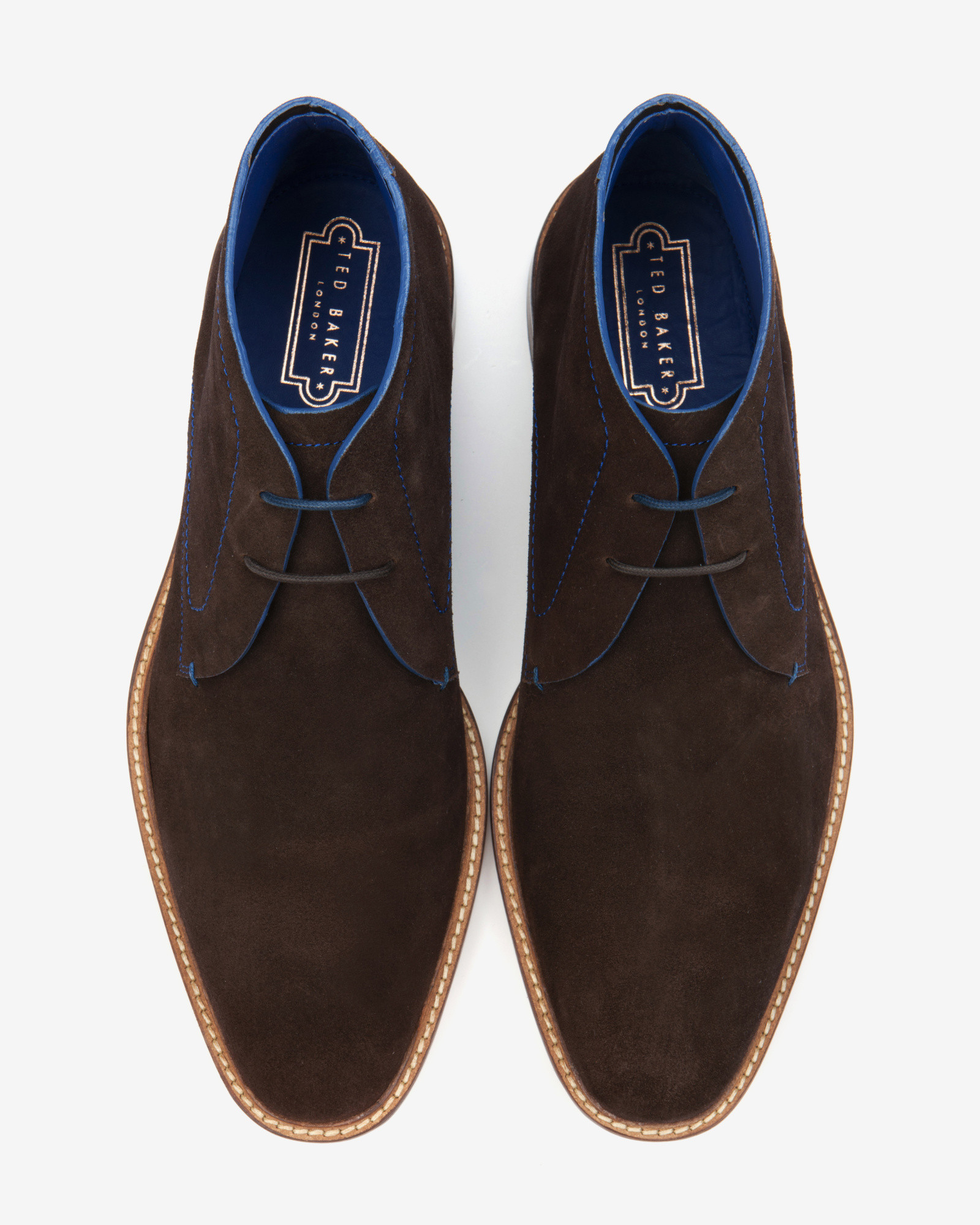 Lyst Ted Baker Suede Derby Chukka Boots In Brown For Men