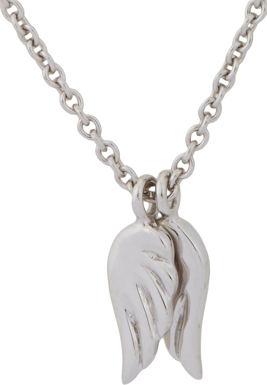 minor obsessions white gold wings pendant necklace