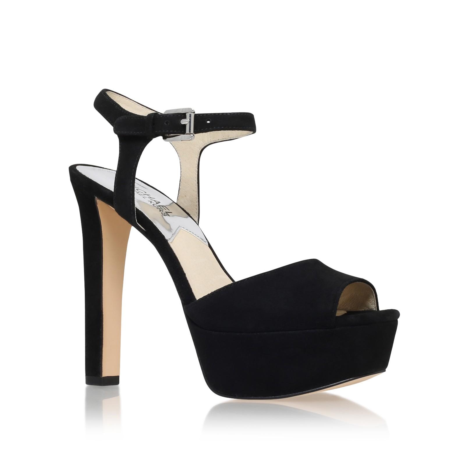 d96db5e491e MICHAEL Michael Kors Trish Sandal in Black - Lyst