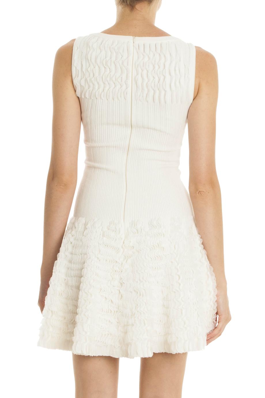 Ala 239 A Ruffle Dress In White Lyst