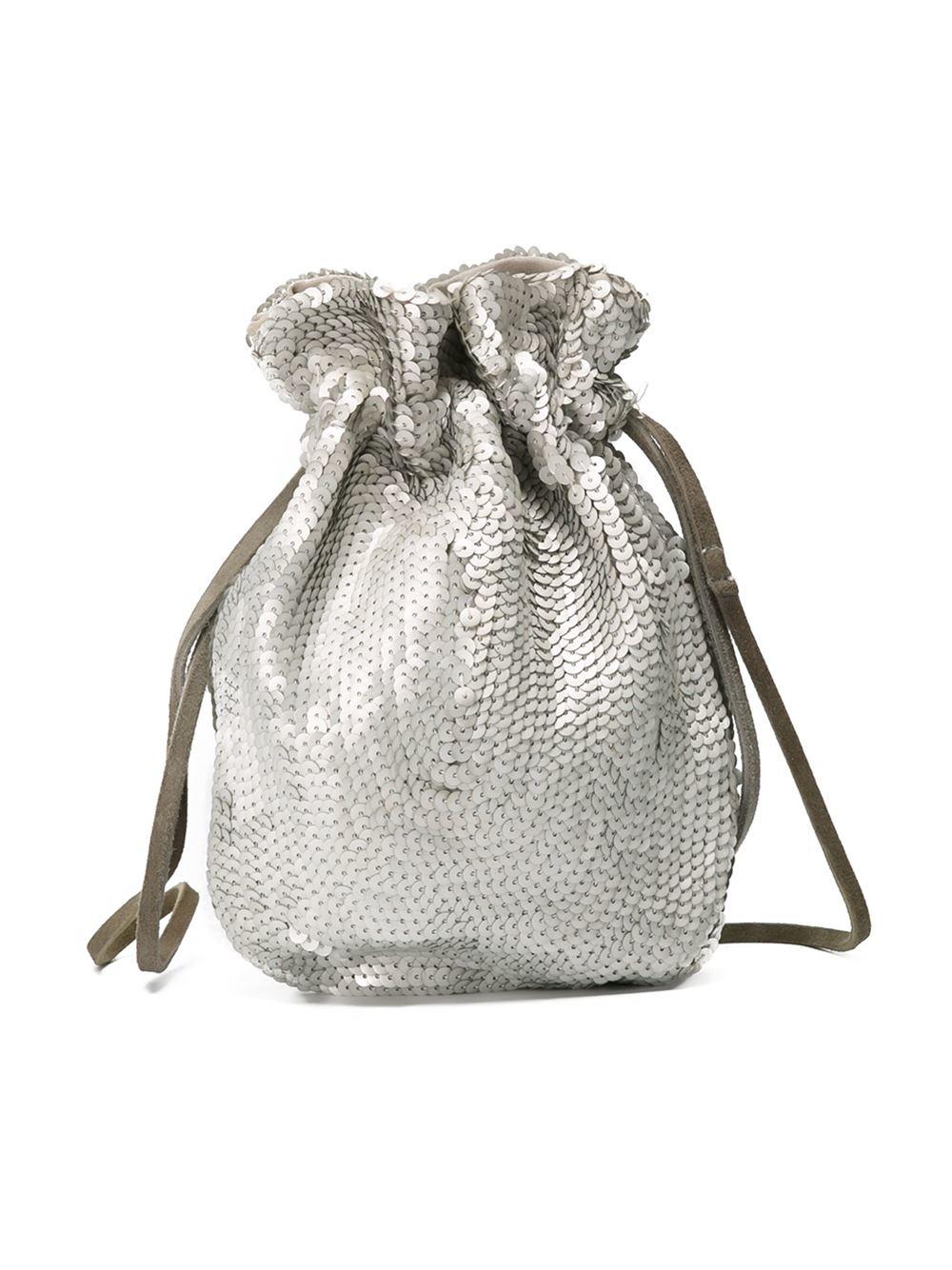 Prada Sequin Drawstring Bag in Metallic | Lyst