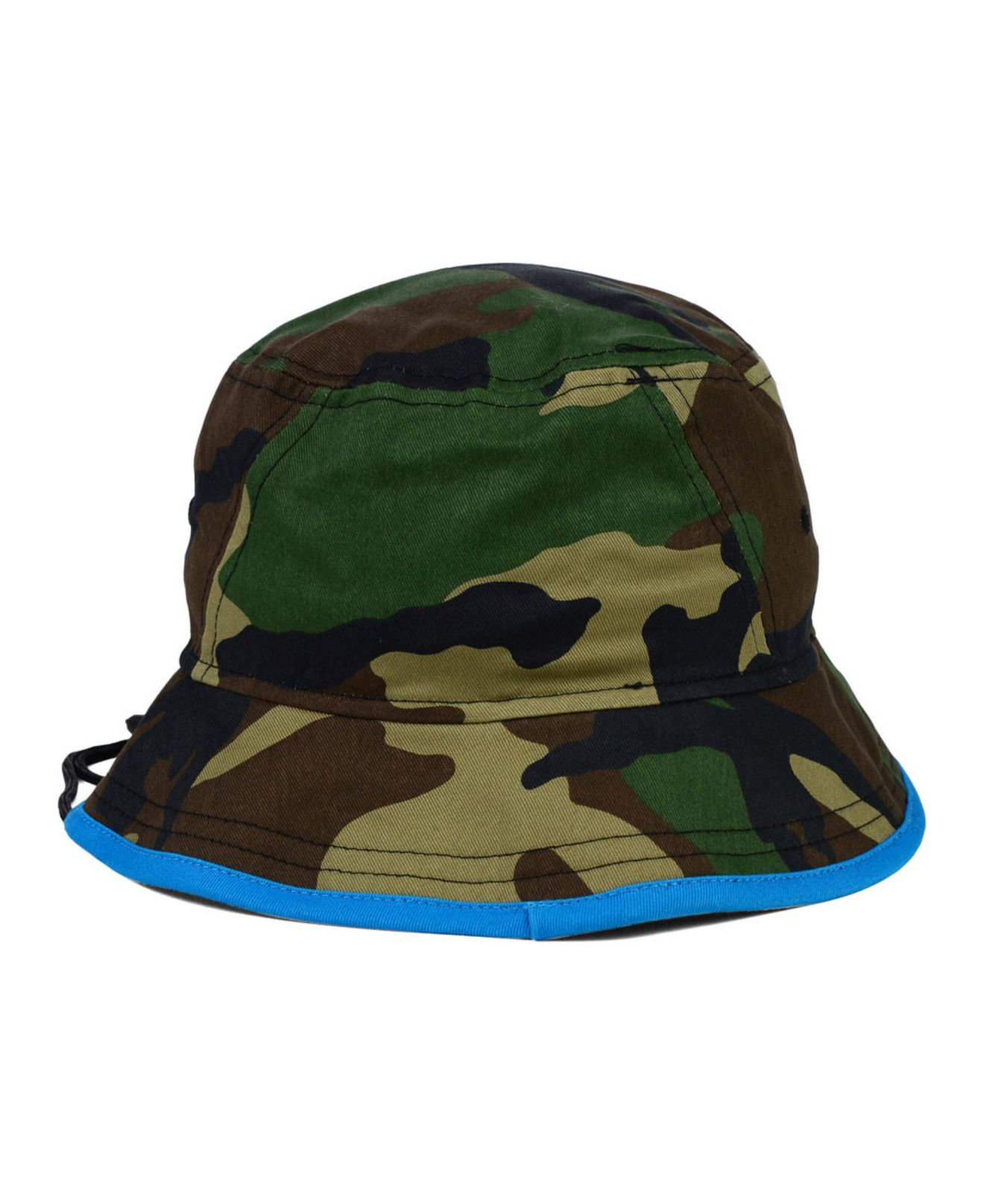 83f90b4df7412 ... where can i buy lyst ktz carolina panthers camo pop bucket hat in green  for men