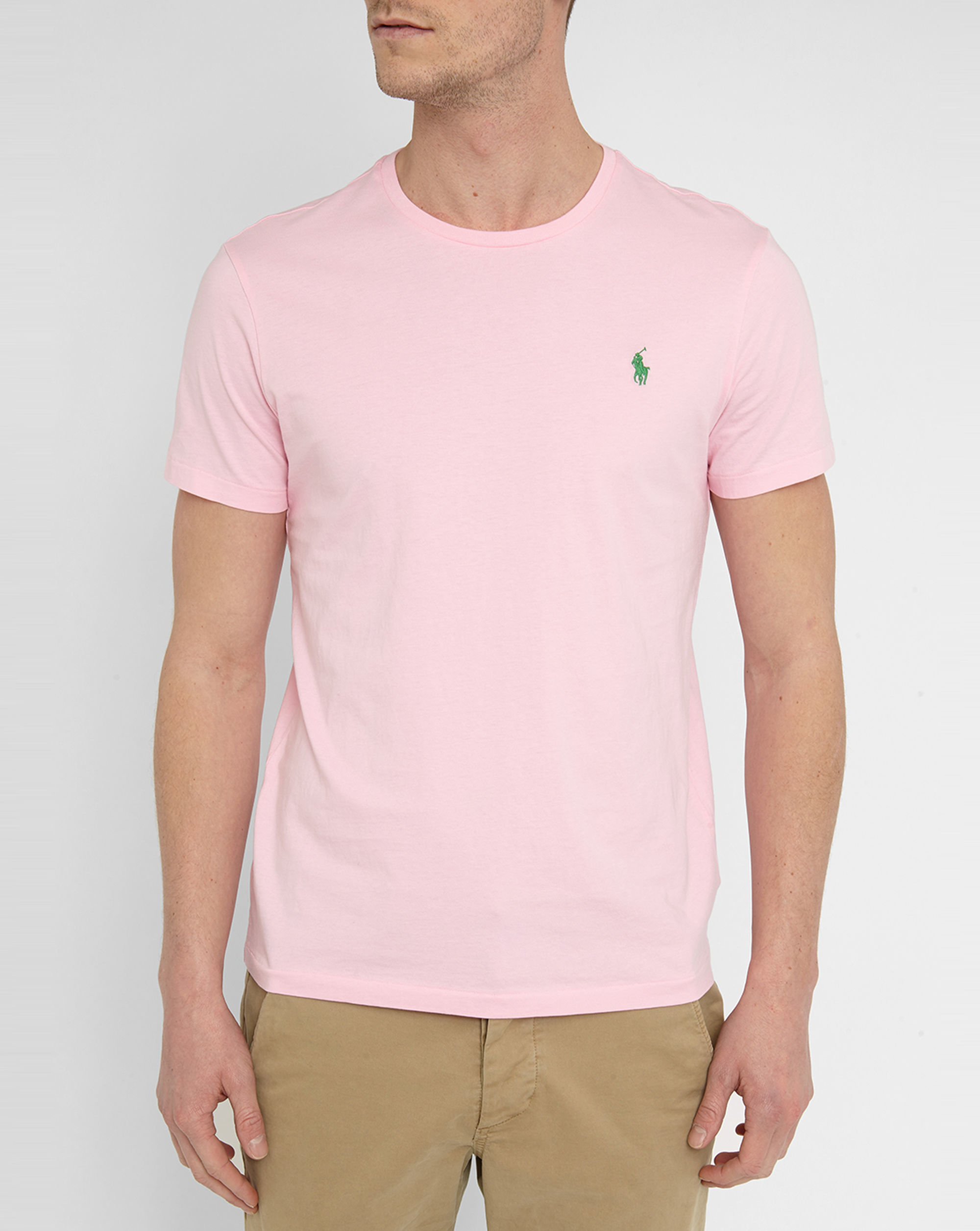 polo ralph lauren pink classic logo t shirt in pink for men lyst. Black Bedroom Furniture Sets. Home Design Ideas