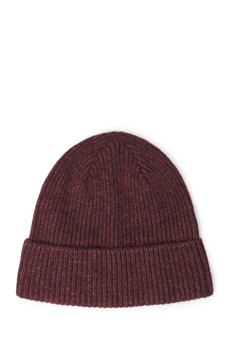 Lyst - Forever 21 Ribbed Knit Beanie Cap in Purple ab80cc49d51