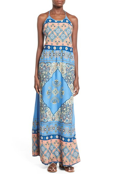 8a83c5bbf29 Lyst - Roxy  summer Fleet  Print Maxi Dress