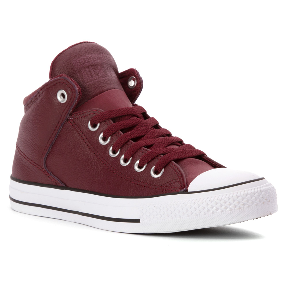 d52d7c0063b Lyst - Converse Chuck Taylor All Star Hi Street Leather in Red for Men