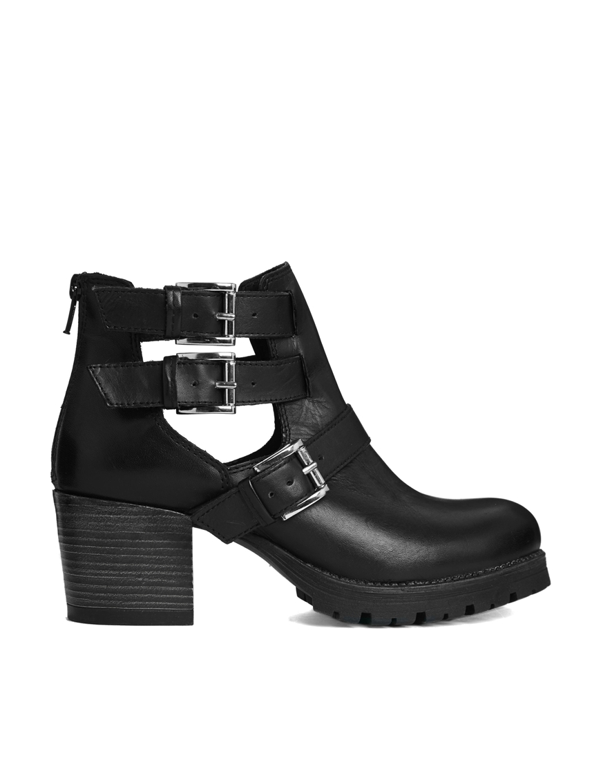 carvela kurt geiger stole cut out leather ankle boots in. Black Bedroom Furniture Sets. Home Design Ideas