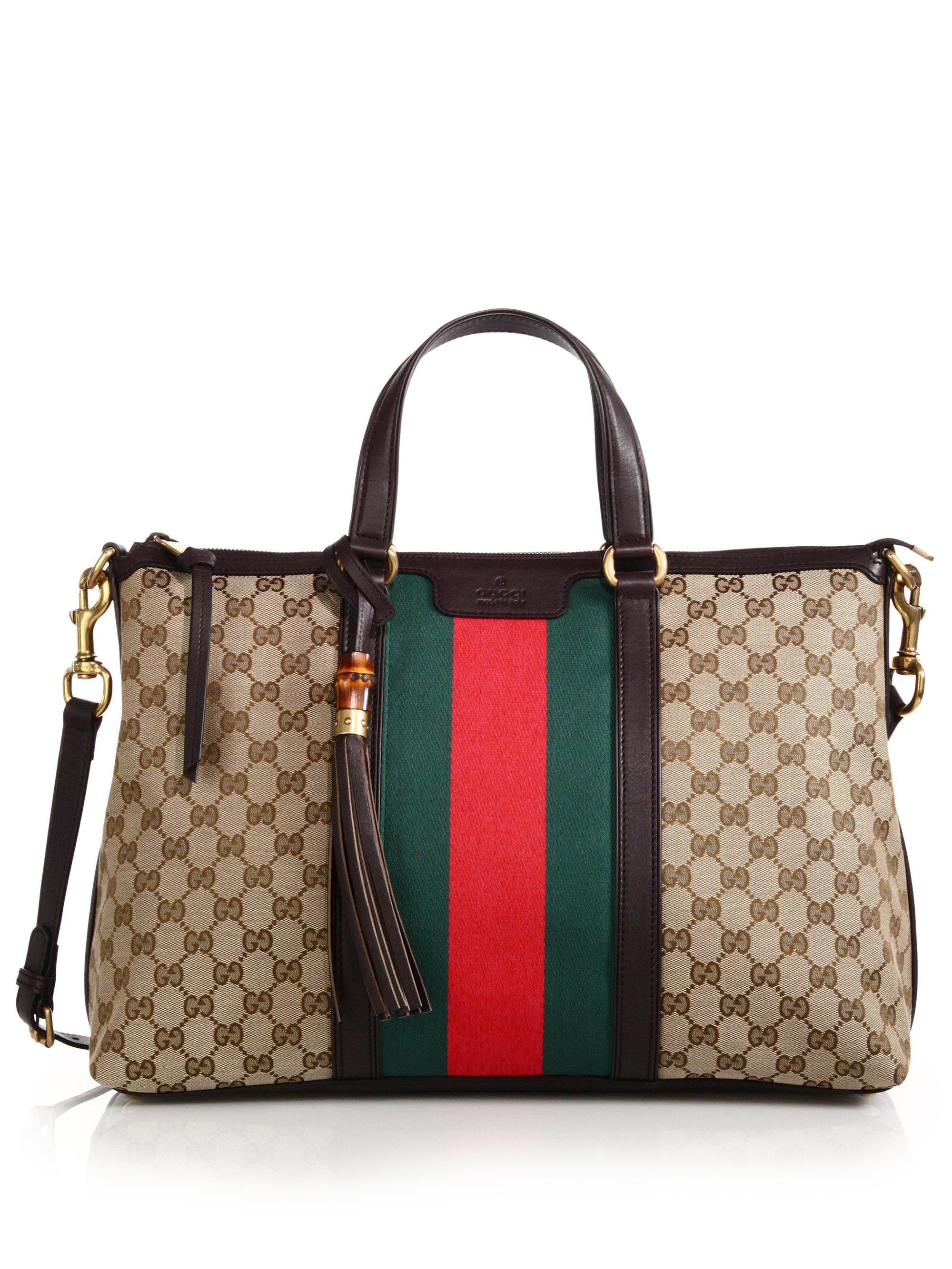 c0725b1579e2de Gucci Rania Original Gg Canvas Medium Top-handle Bag - Lyst