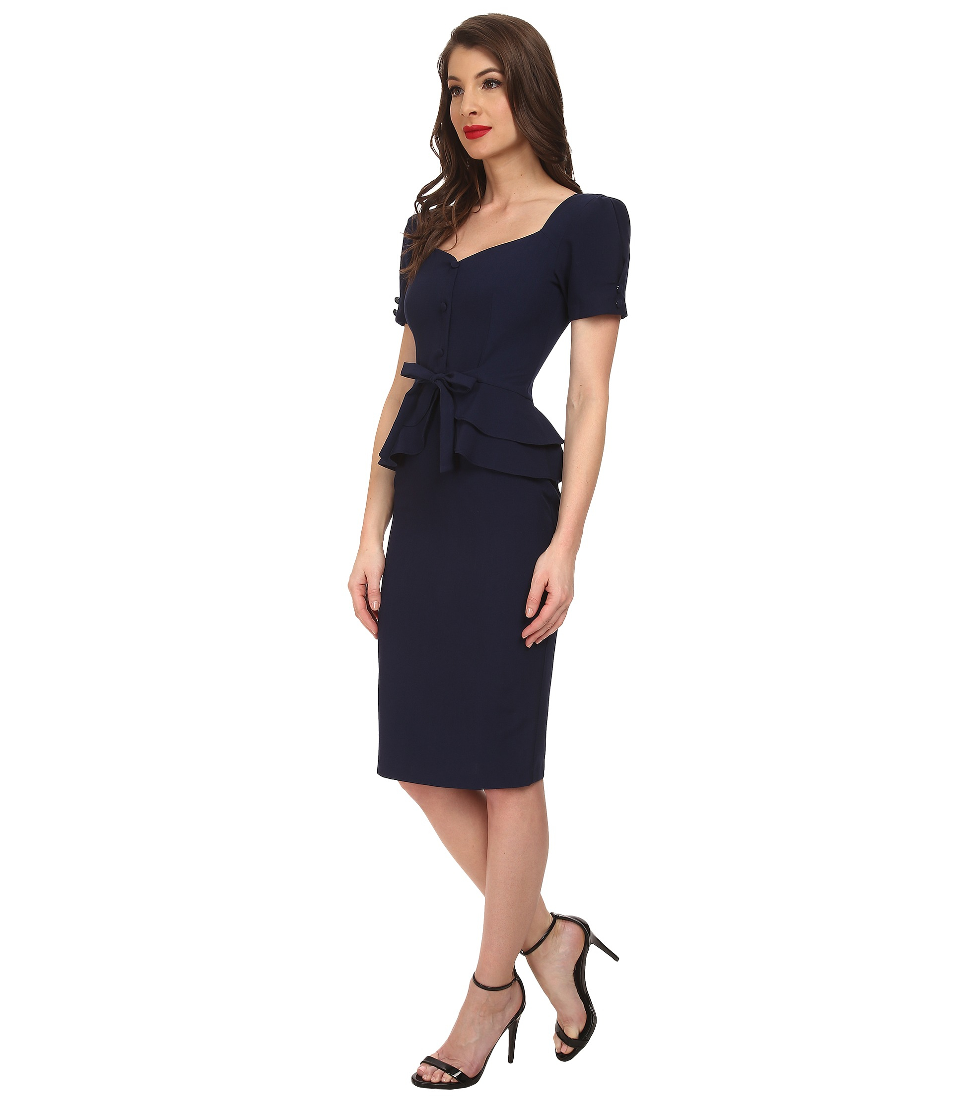 b9caa7d09c9 Lyst - Stop Staring! Faith Fitted Dress in Blue