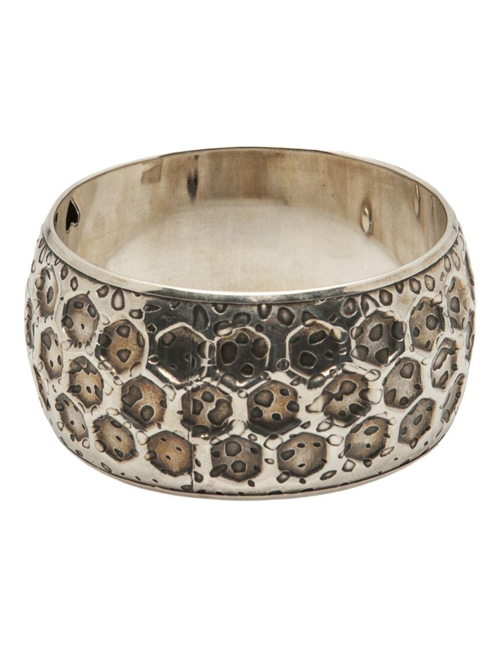 Bijoux Vintage Online : Gas bijoux vintage bangle in silver metallic lyst