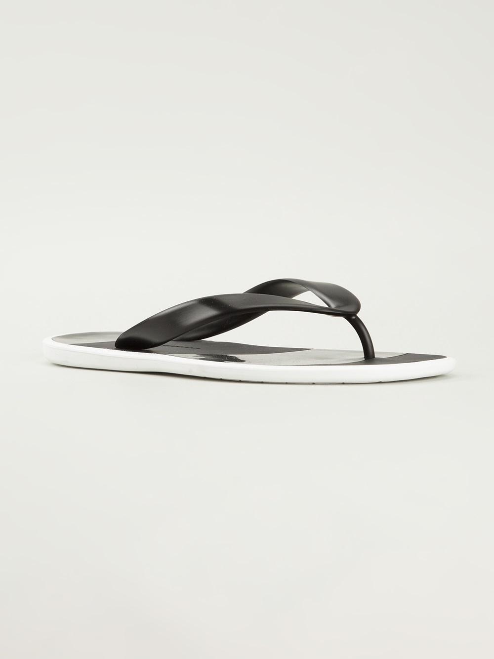 501501931c7 Lyst - Dolce   Gabbana Monochrome Flip Flops in Black for Men