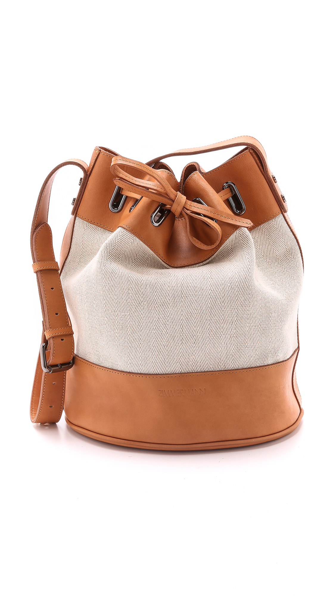 Zimmermann Drawstring Beach Bucket Bag - Tan in Brown | Lyst