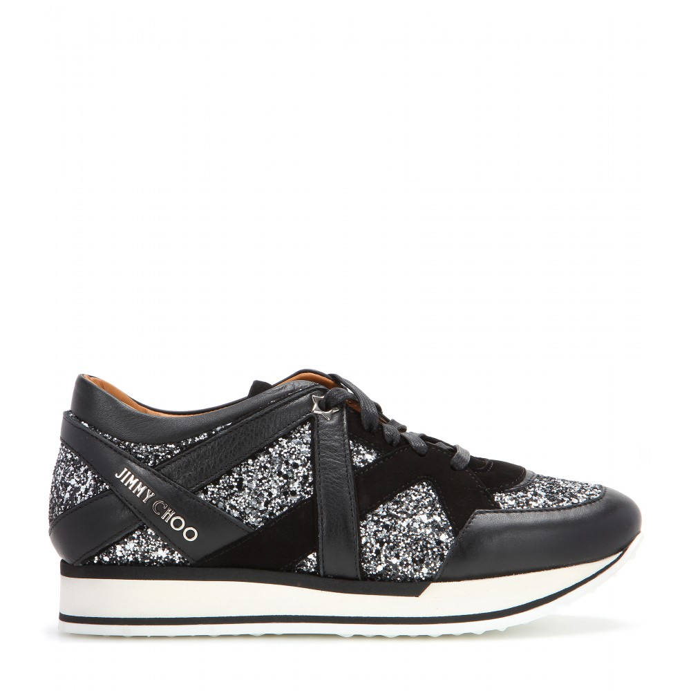 NY embellished leather sneakers Jimmy Choo London umvcoevh