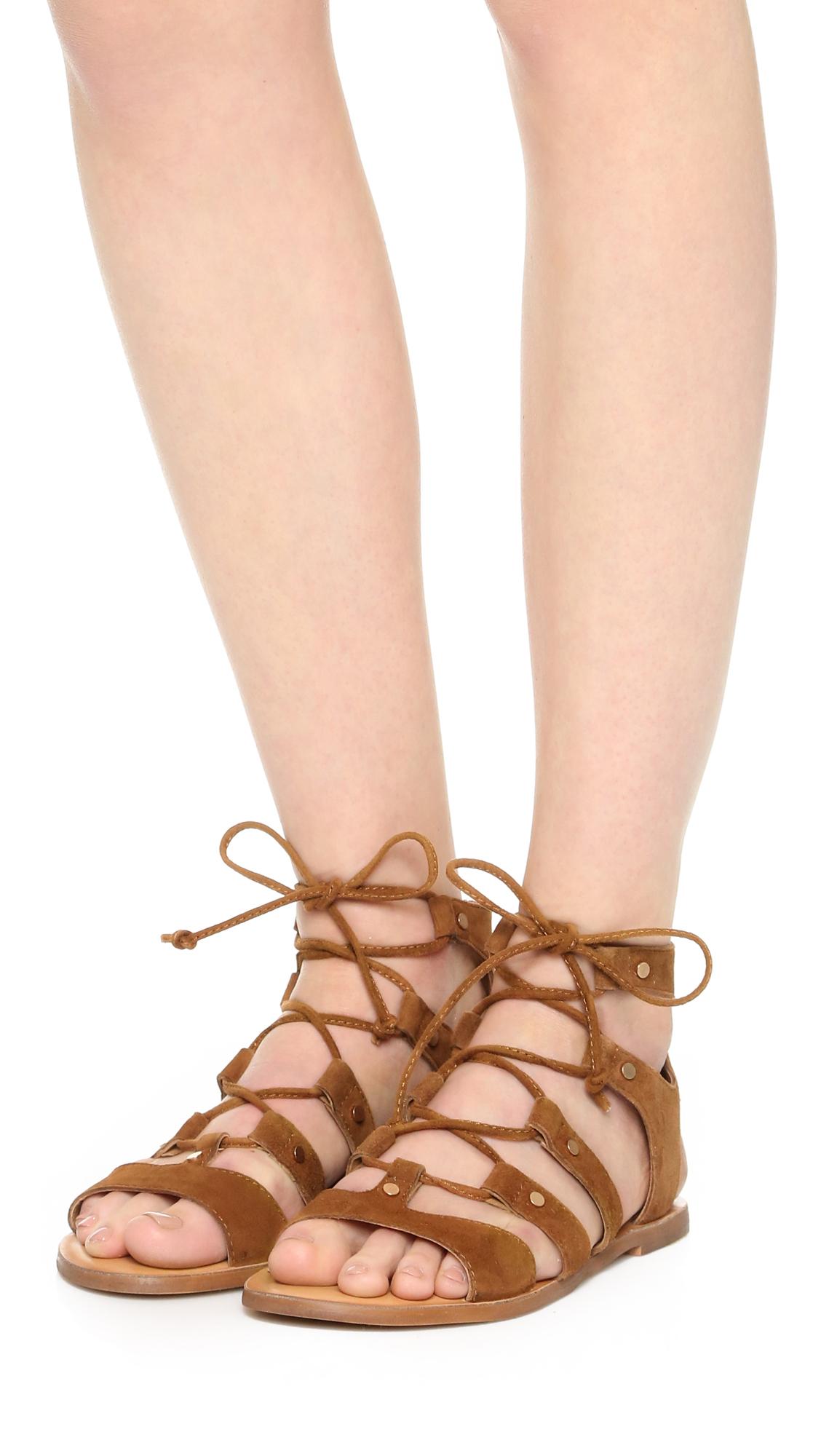 633ce6d1f4f Lyst - Dolce Vita Jasmyn Suede Gladiator Sandals in Brown