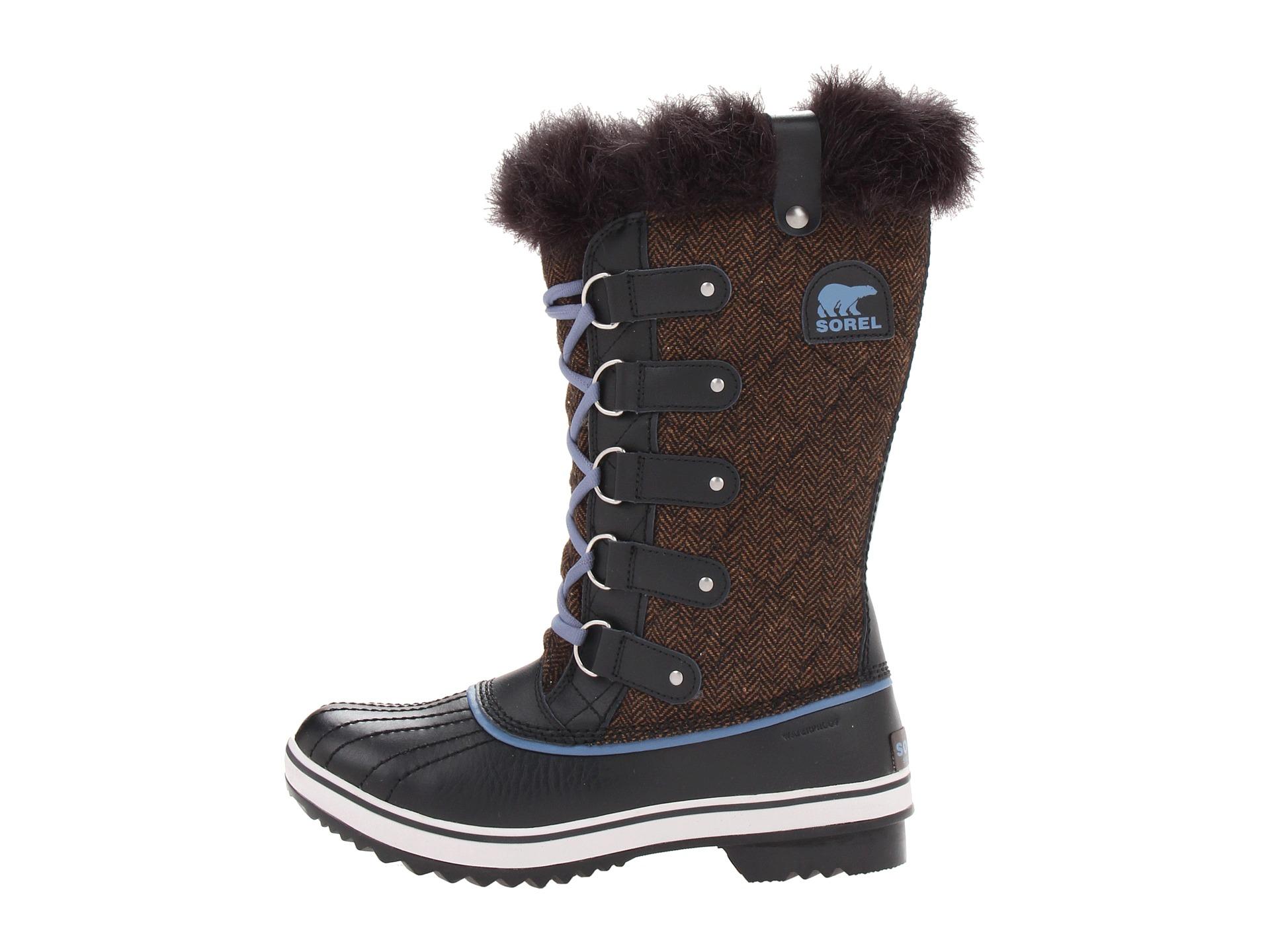 Sorel Tofino Herringbone Water Resistant Boots In Brown Lyst