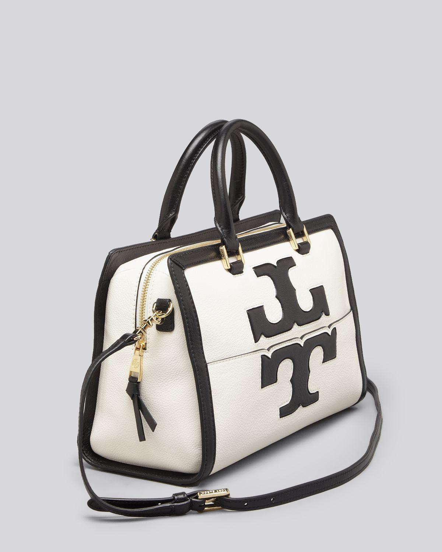2f9e16ed01e Lyst - Tory Burch Jessica Leather Satchel Bag in Black