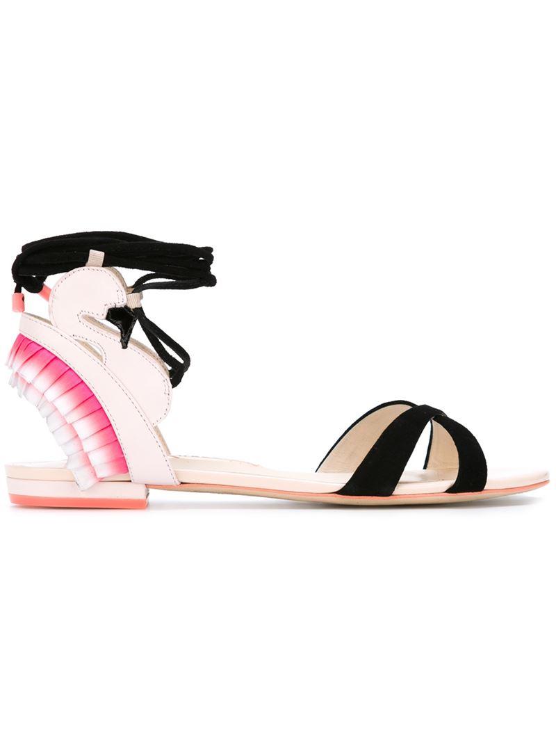 Lyst Sophia Webster Flamingo Leather Sandals In Pink