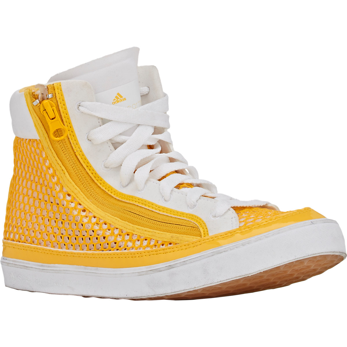 lyst adidas da stella mccartney psittaci sneakers alte in giallo