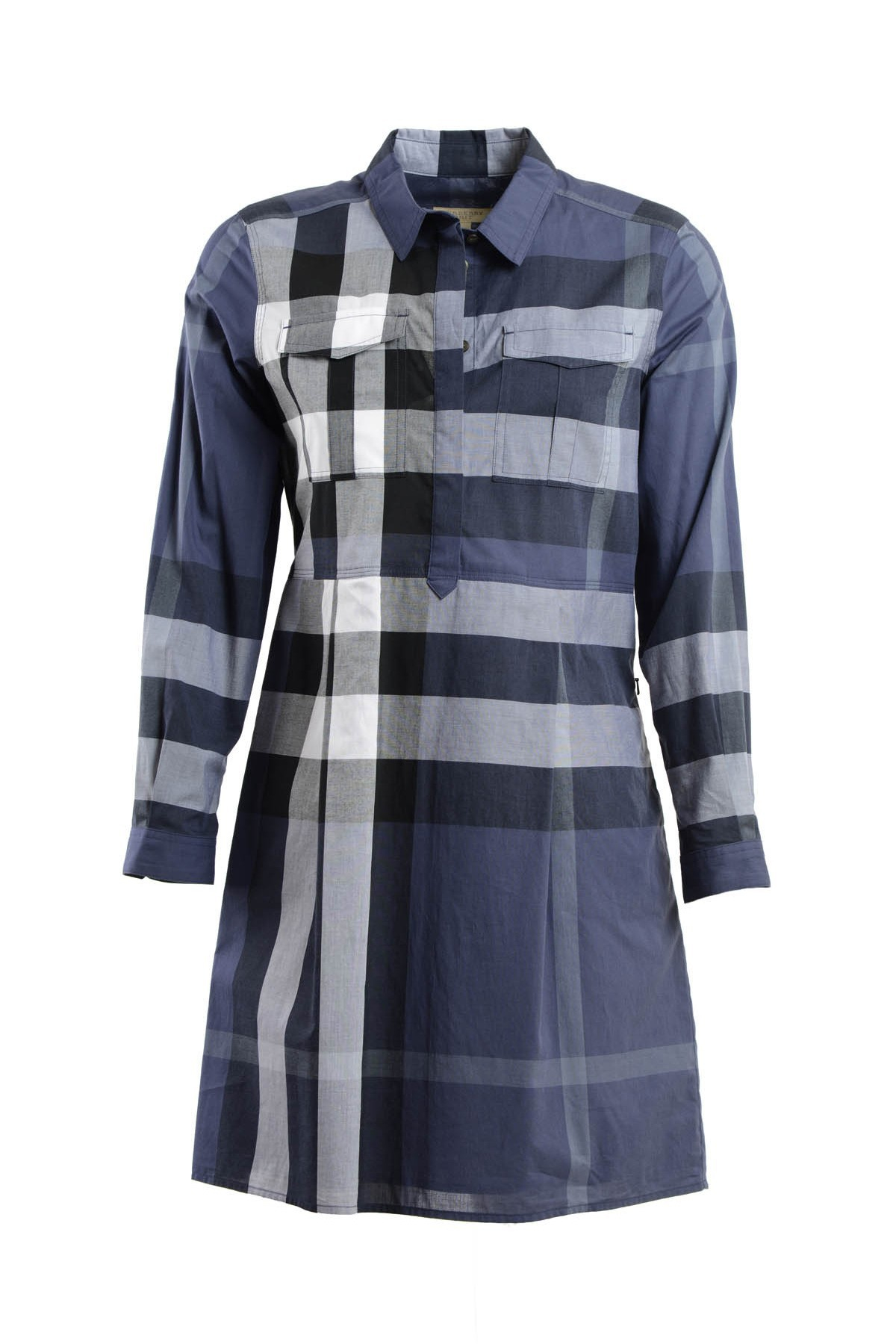 Burberry Peggie Check Shirt Dress In Blue Lyst