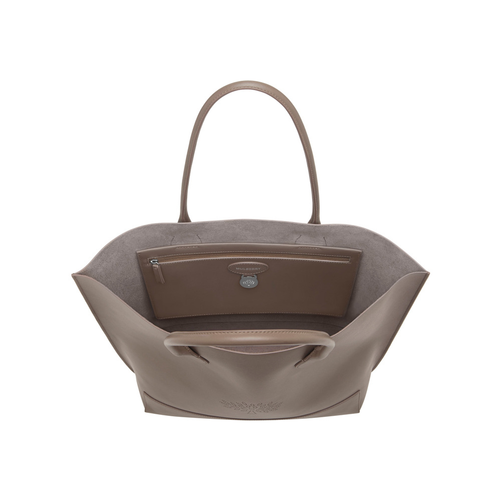 Mulberry Blossom Tote in Brown