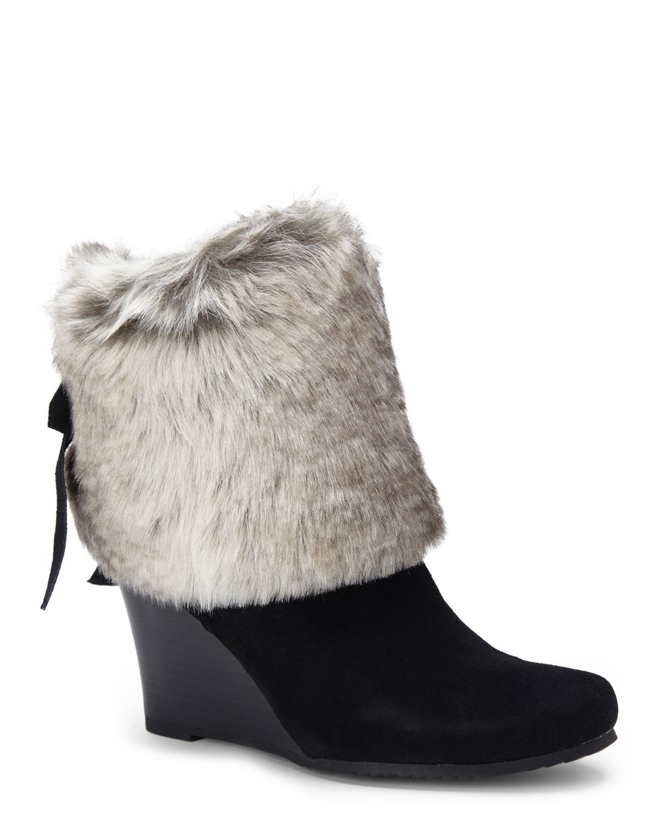 37ff15e2921 Lyst - Chinese Laundry Black Very Nice Wedge Booties in Black
