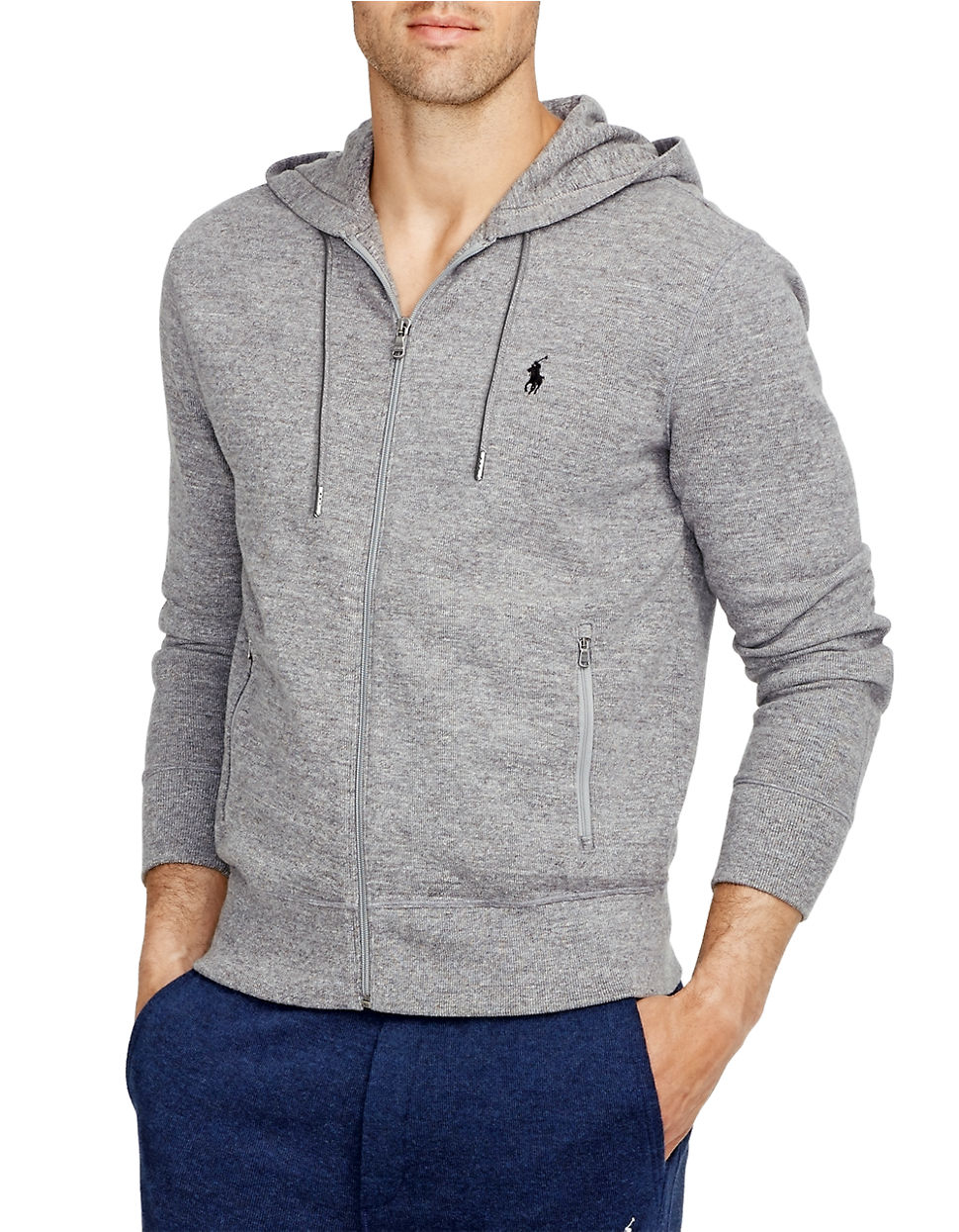 ... Polo Ralph Lauren French-Rib Full-Zip Black Hoodie ...
