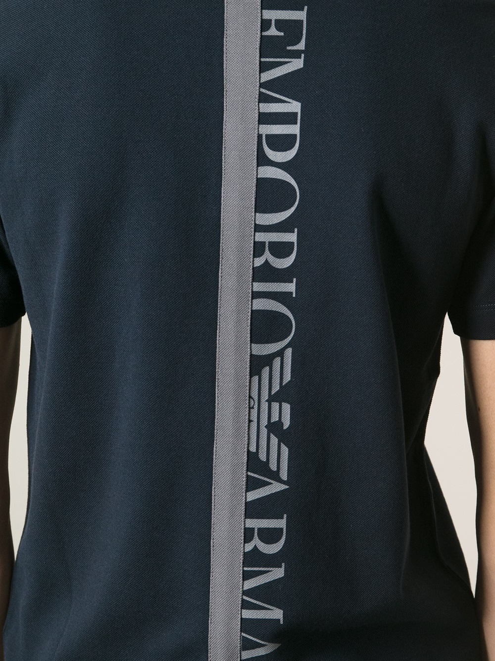 Lyst emporio armani logo print polo shirt in blue for men - Emporio giorgio armani logo ...