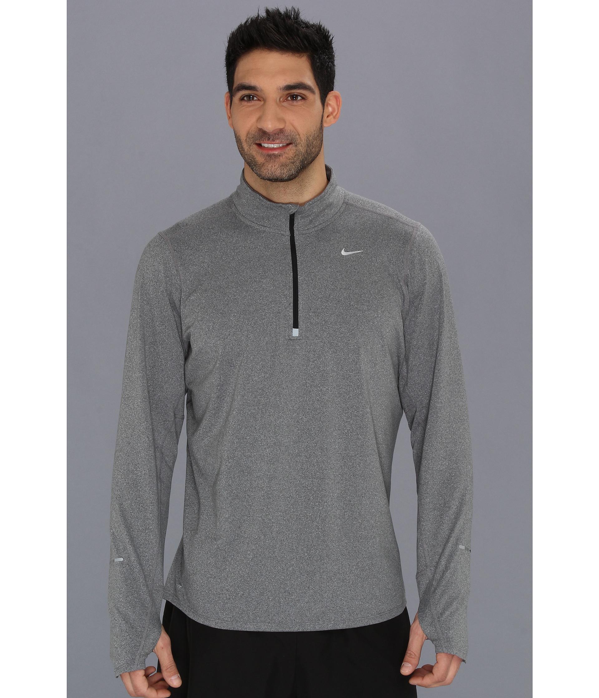 687a073dc79b Lyst - Nike Element Half-Zip in Gray for Men