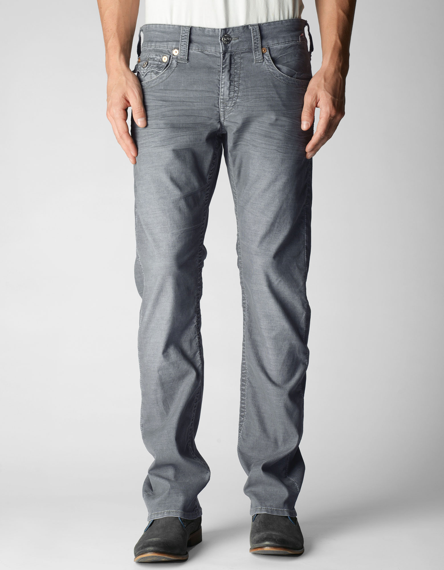 97dc039aa Lyst - True Religion Mens Ricky Corduroy Pant in Gray for Men