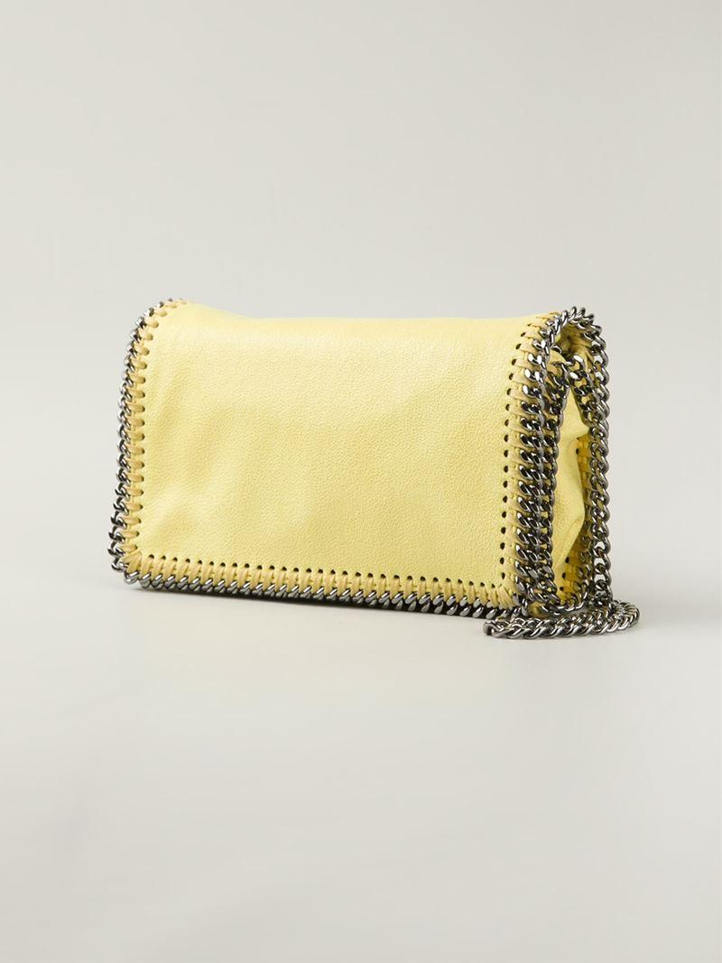 4f545a3142 Lyst - Stella McCartney Falabella Faux-Leather Cross-Body Bag in Yellow
