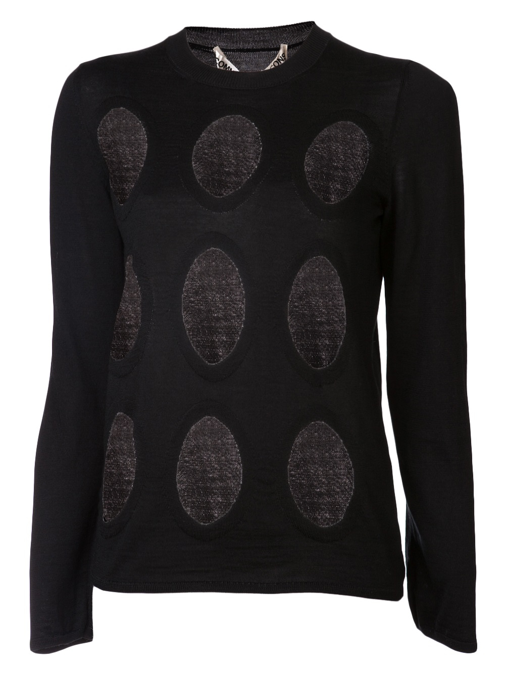 Comme des garçons Sheer Holes Sweater in Black | Lyst