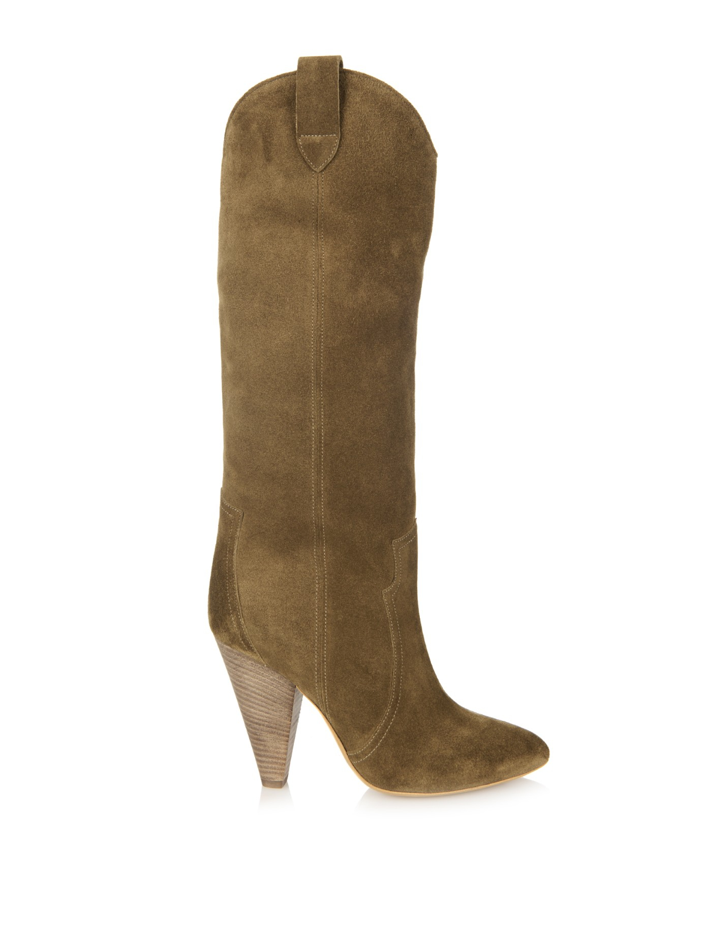 isabel marant toile runa suede boots in brown lyst. Black Bedroom Furniture Sets. Home Design Ideas