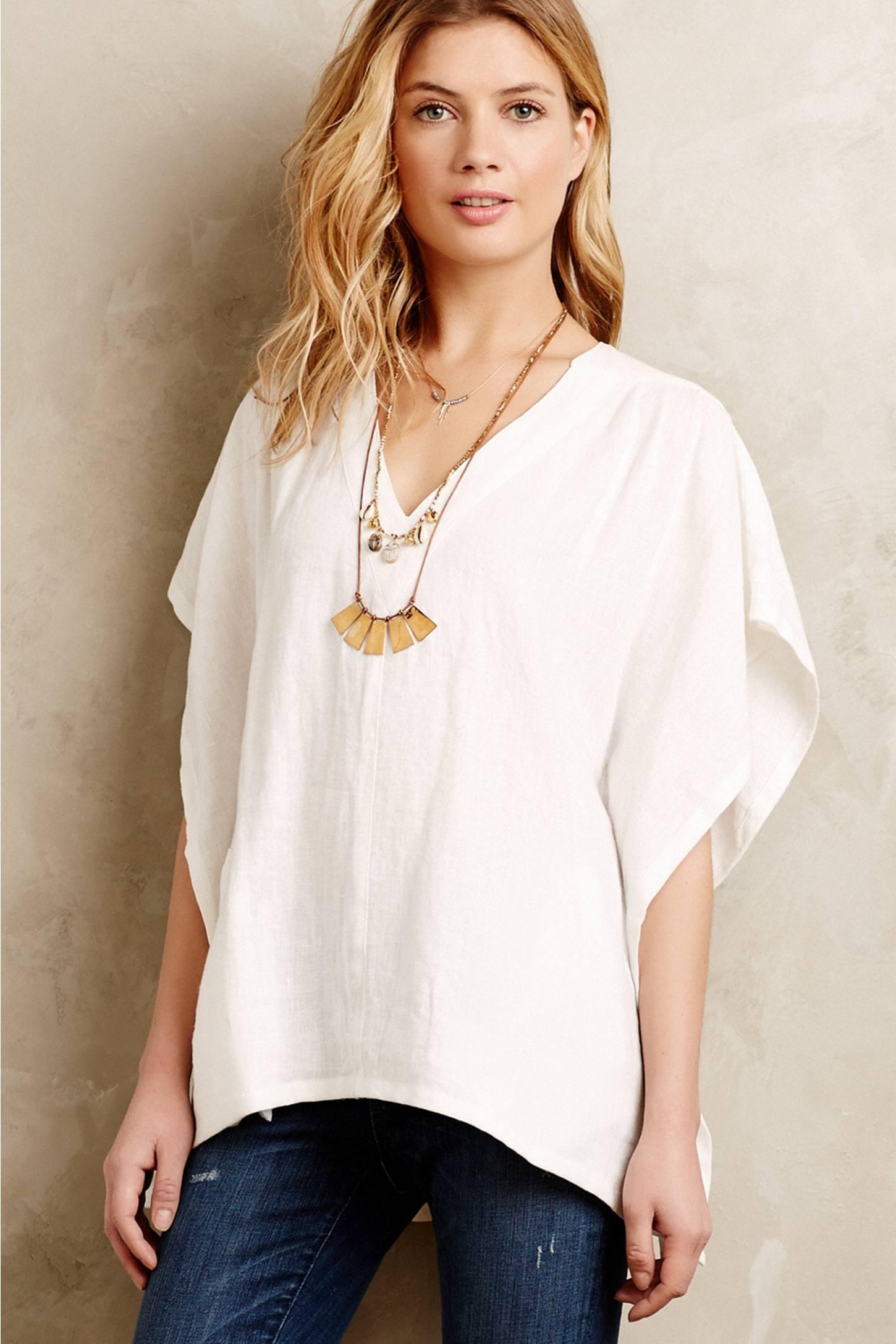 Horses Atelier Linen Kimono Top In White Lyst
