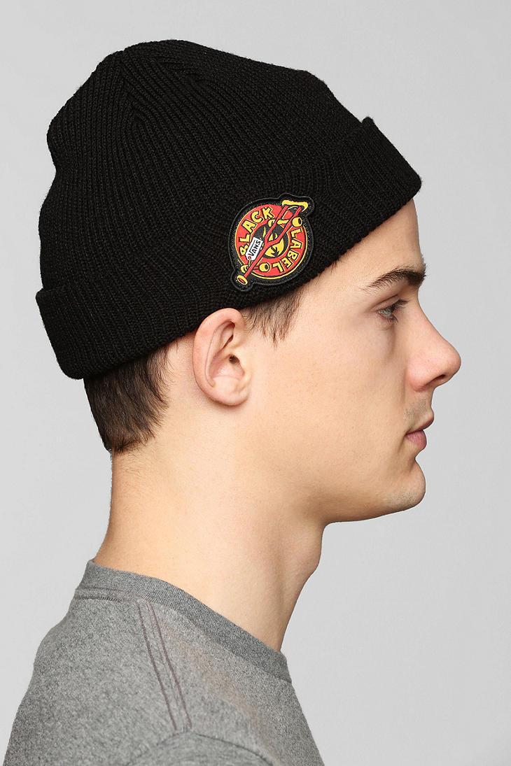 6a0b49e20a9 Lyst vans black label skateboard beanie in black for men jpg 730x1095 Vans  beanies for men