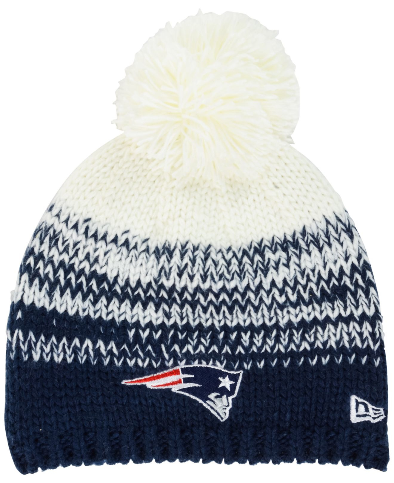 ... amazon lyst ktz womens new england patriots polar dust knit hat in  white 1920d 3544d 678d09c00