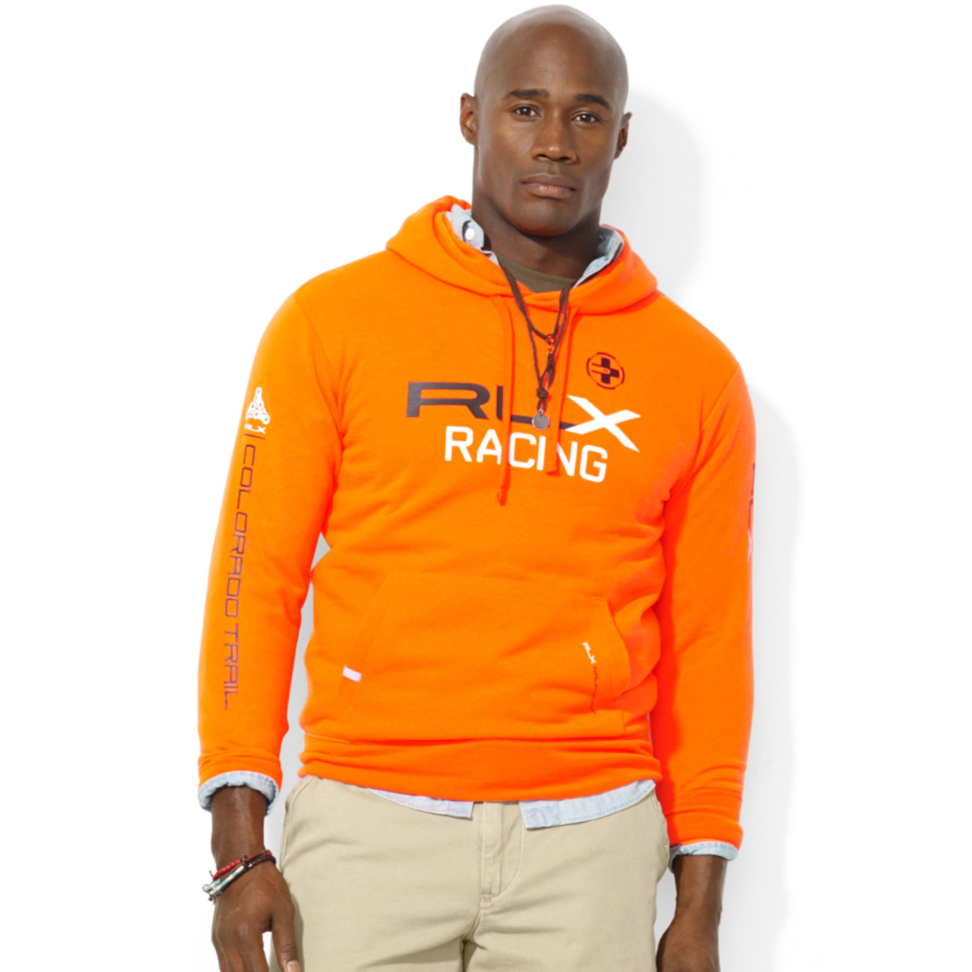 bb17d2767 ... shirt for mens orange t shirts f2580 329ee  coupon for lyst ralph  lauren polo big and tall rlx fleece hoodie in orange 41006 0dcd5