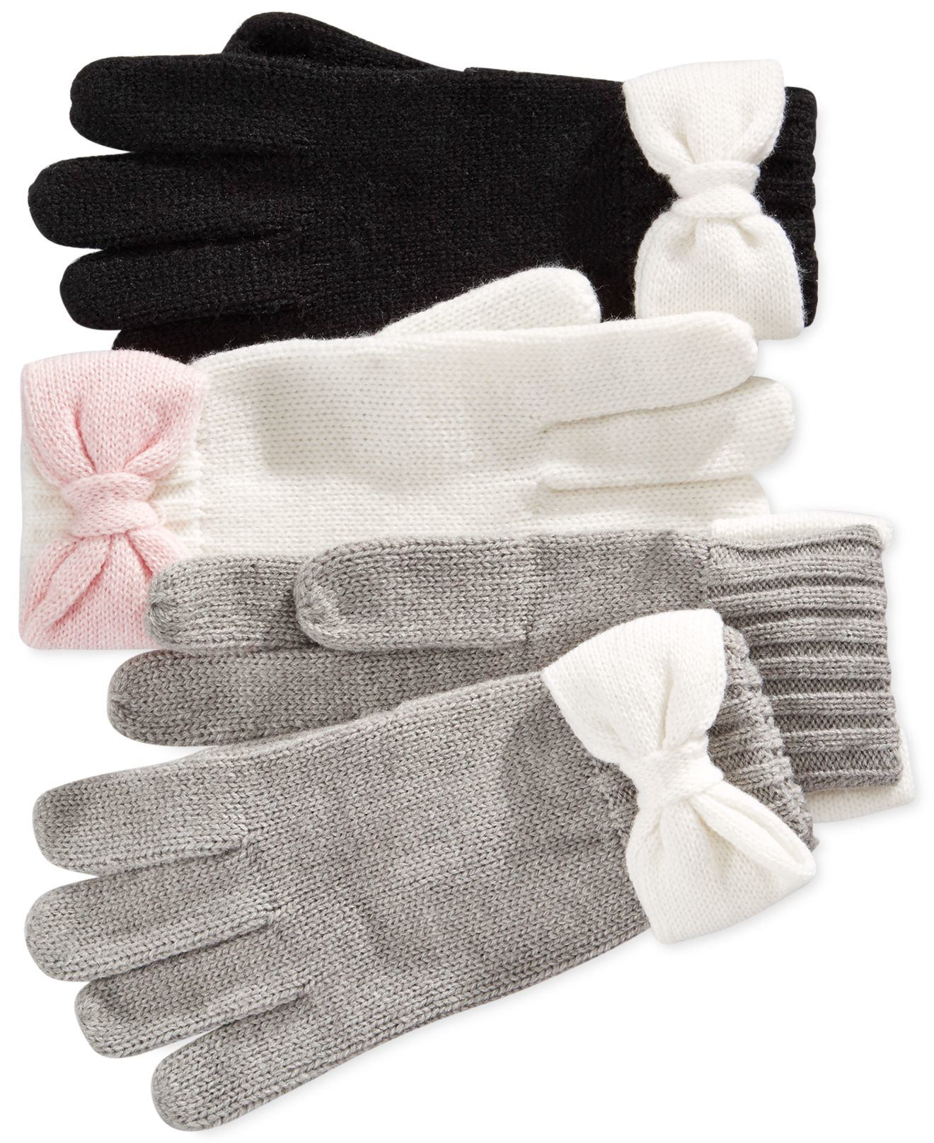 Black gloves with bow - Gallery