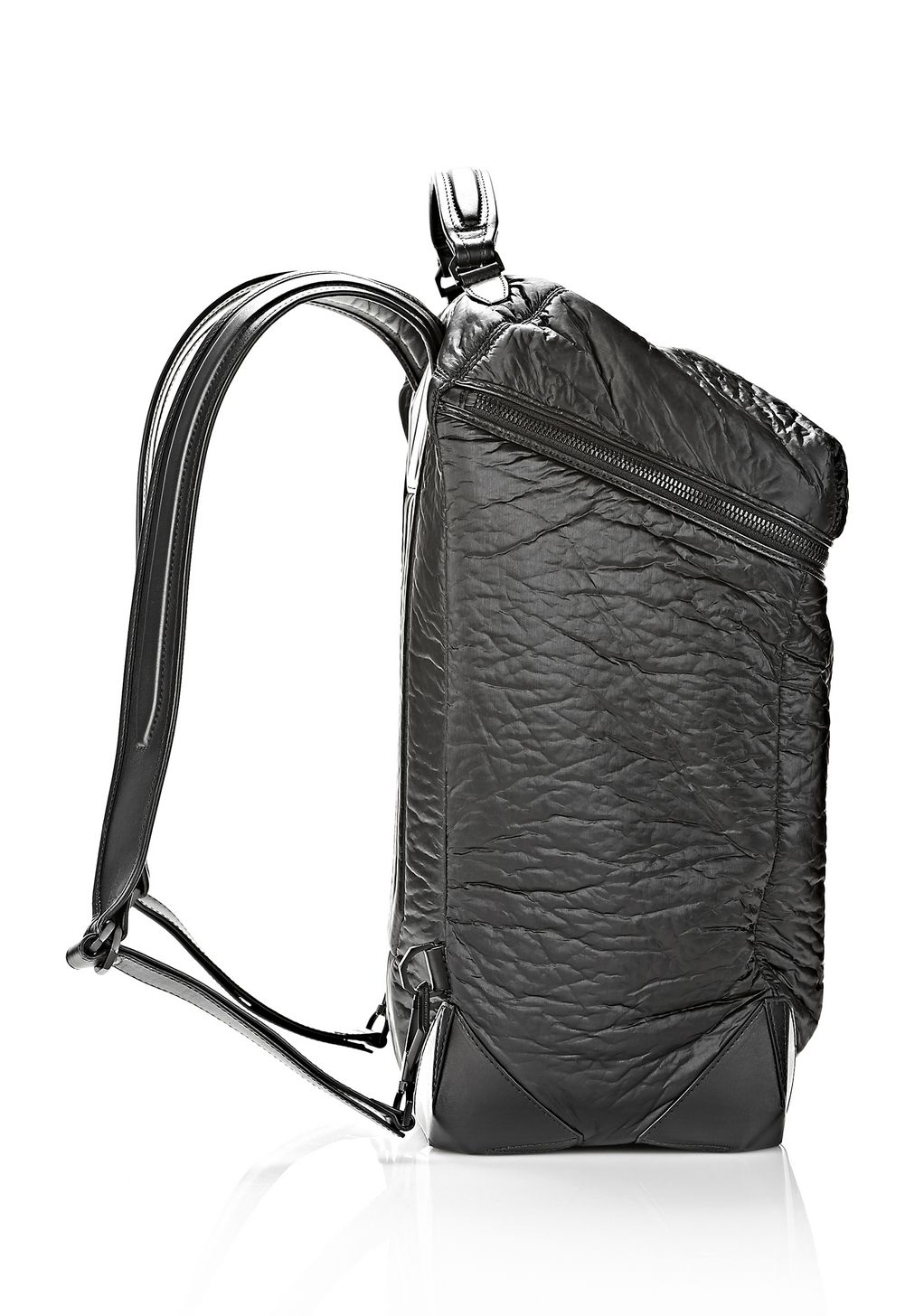 1fa4c30933 Lyst - Alexander Wang Wallie Backpack In Shiny Black With Matte ...